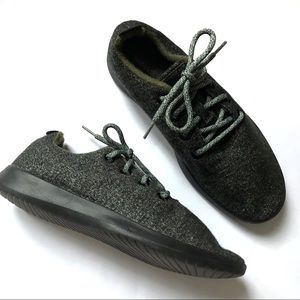 Men ALLBIRDS Wool Runner Shoes Green/Gray Sneakers